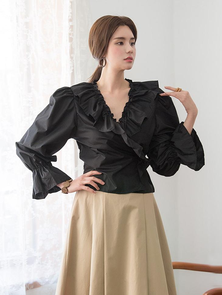 B2400围流边缘女衬衫