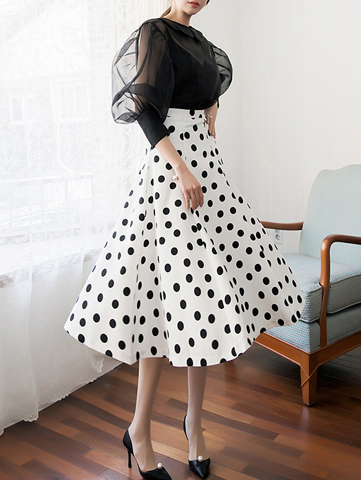 SK1860 圆点半身裙
