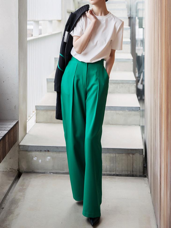 P2015 显瘦宽长版裤