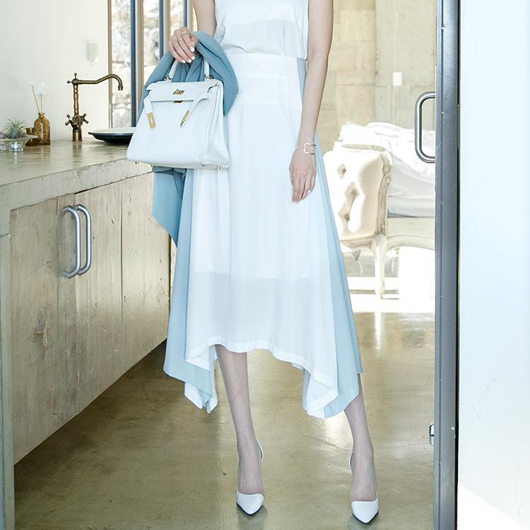 SK1870 不规则配色半身裙 *L尺码制作* (9th REORDER)
