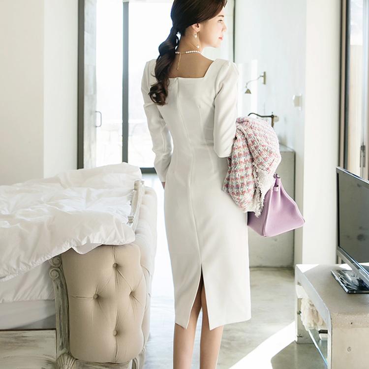 D3766 Sylon's Square Neck连身裙* L尺码制作*(6再进货)