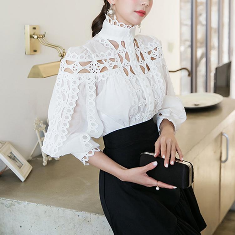 B2406瘦大厅高龄女衬衫(内套)(12进货)