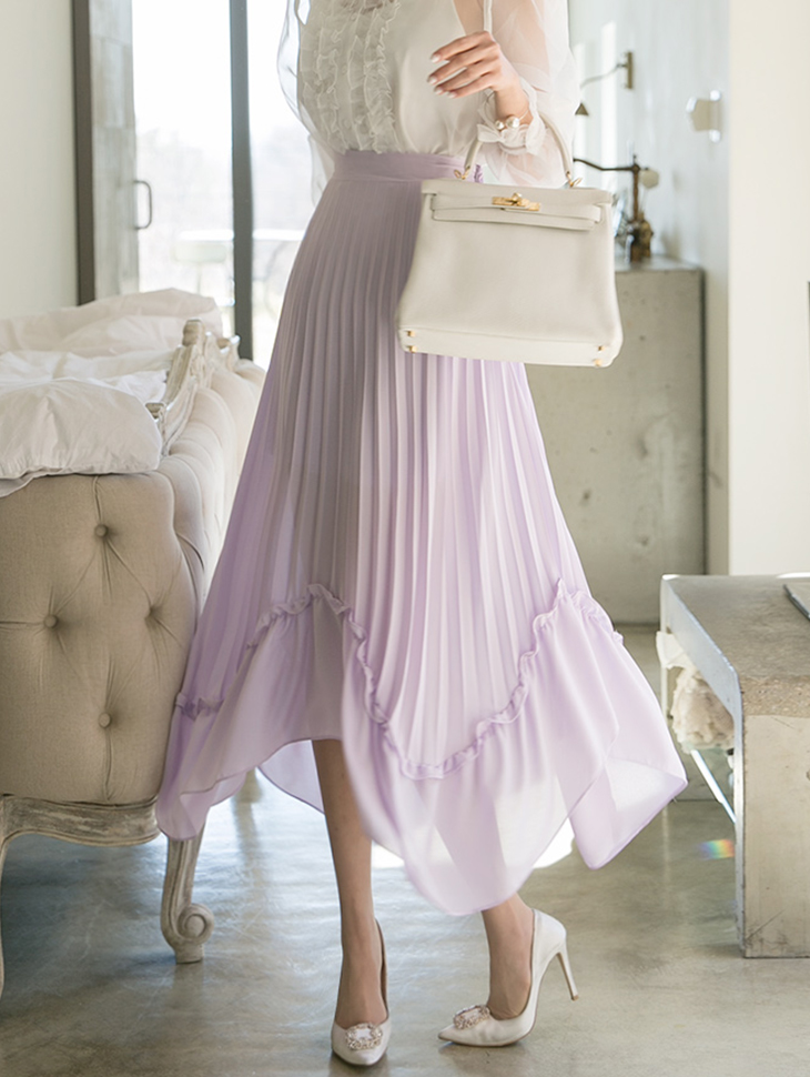 SK1685 不规则荷叶边半身裙 (第3次进货)