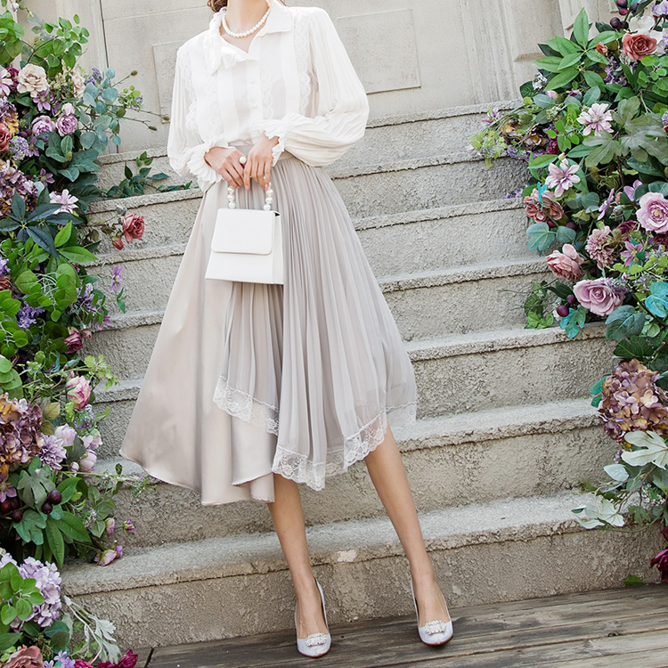 SK1886 Berise雪纺蕾丝裙子(12再进货)