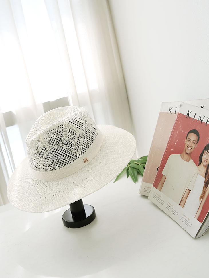 AC-518夏天Fedora帽子(胸针套装)