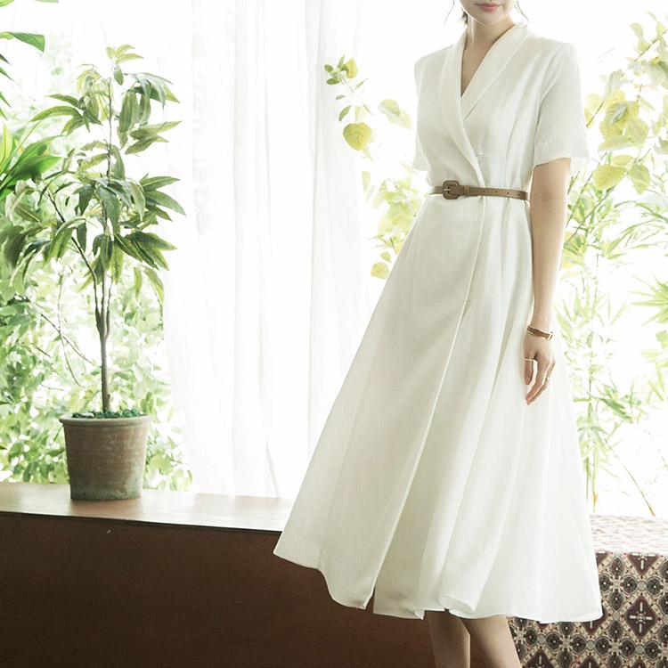 D3783 Melliv亚麻连身裙(腰带套)(6再进货)