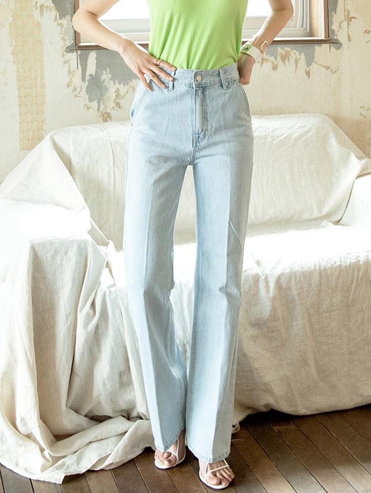 PJ367 长版直筒丹宁裤