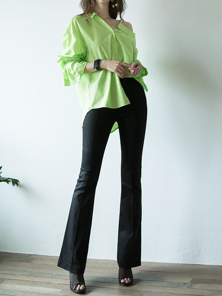 P2042 高腰长版直筒裤