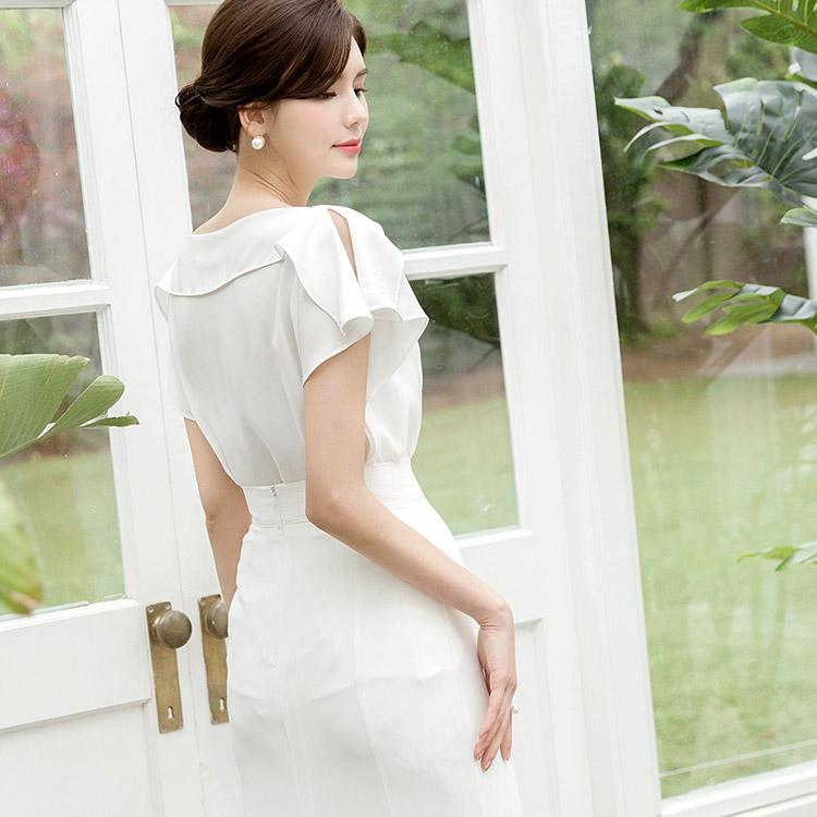 B2424露褶女衬衫(18进货)