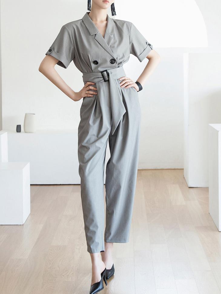 D3793 合身订制连身裤 (腰带组合)