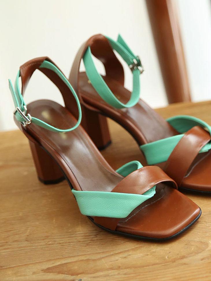 HAR-634 彩色束带真皮高跟鞋 *手工制作*
