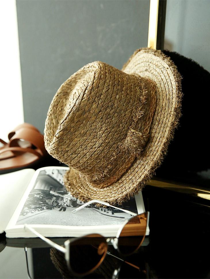 AC-528夏天拉菲草软呢帽