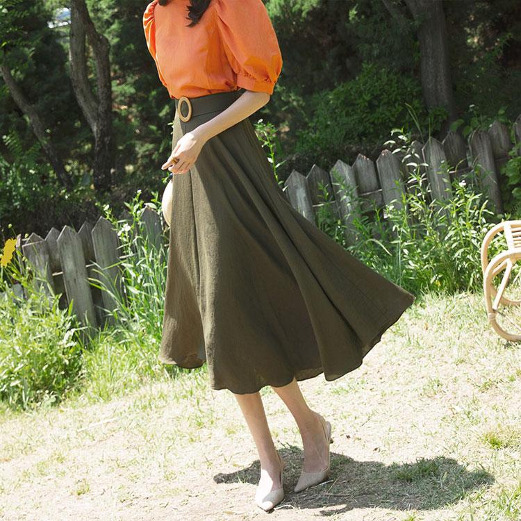 SK1905 Bardin wave裙子(腰带套)(6再进货)