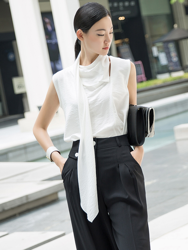 B2464 亚麻领带雪纺纱
