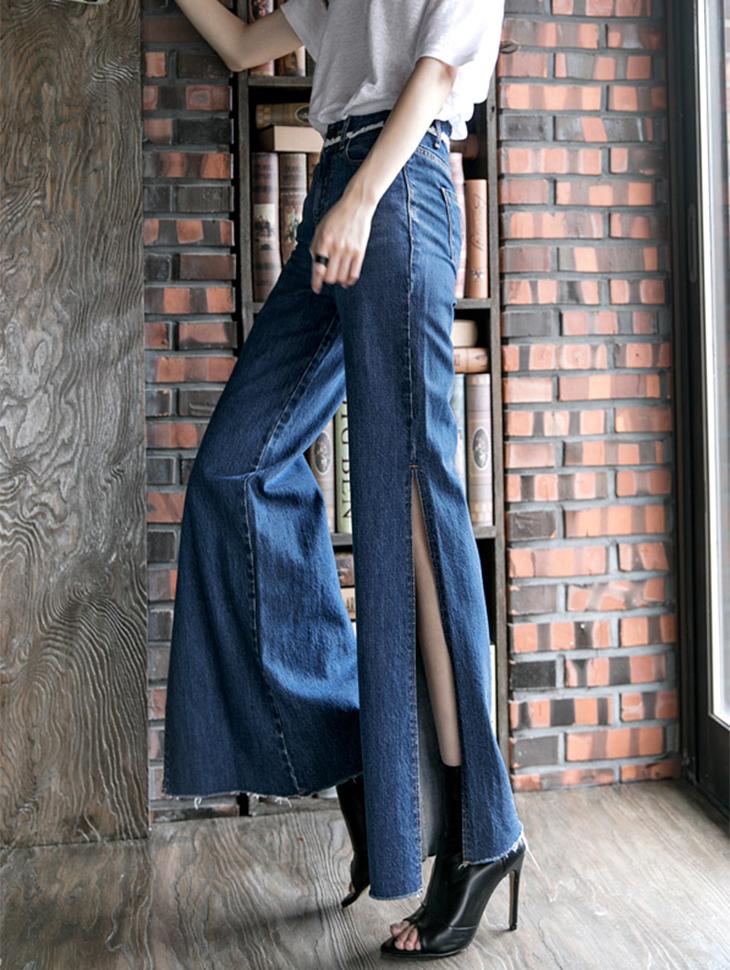 PJ277流苏腰围深缝丹宁短裤(65进货)