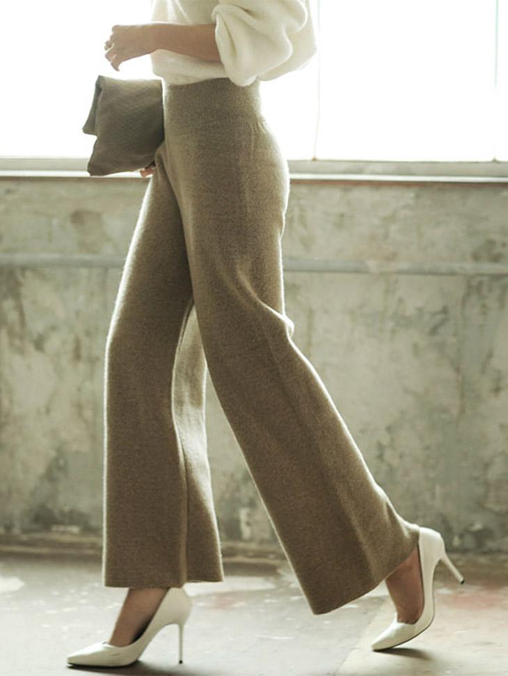 P1171 宽针织裤子 (161th REORDER)