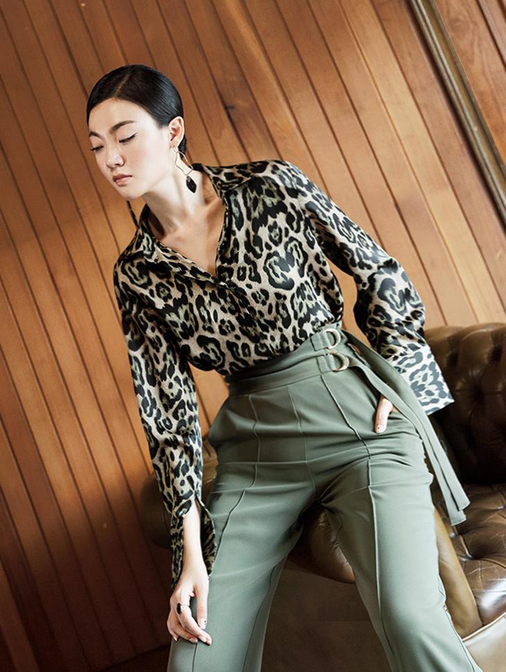 S316 混色豹纹衬衫 (3rd REORDER)