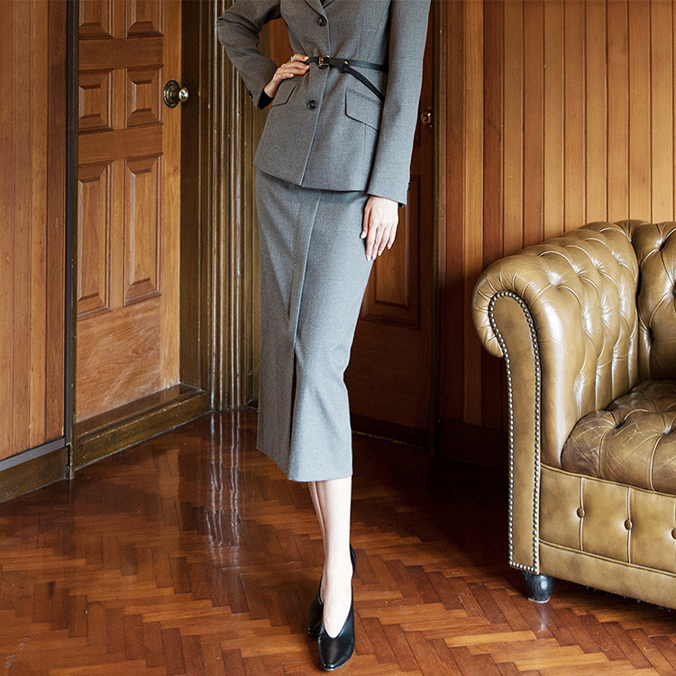 SK1924 曲线半身裙