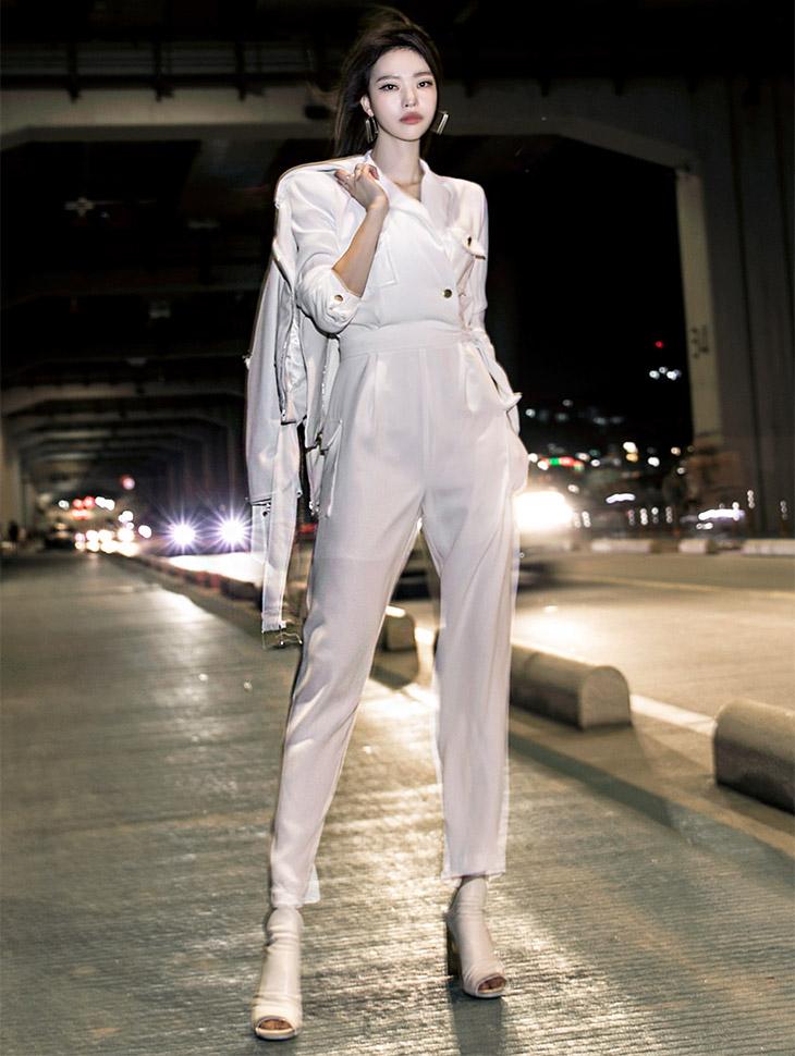 D3653双口袋现代连身衣(腰带套)(18号重新放养)