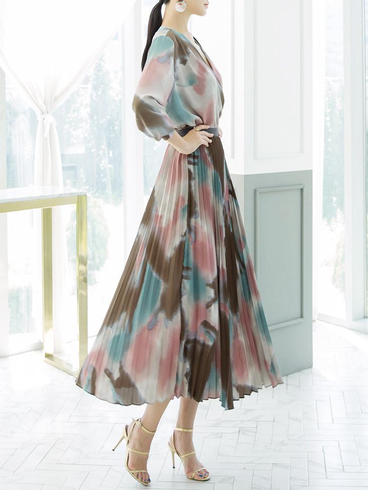 SK1931 百褶线条半身裙