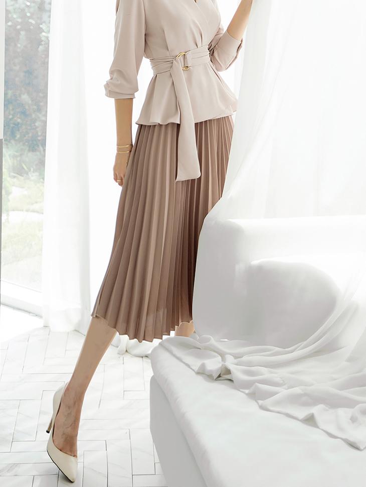 SK1933 百褶半身裙