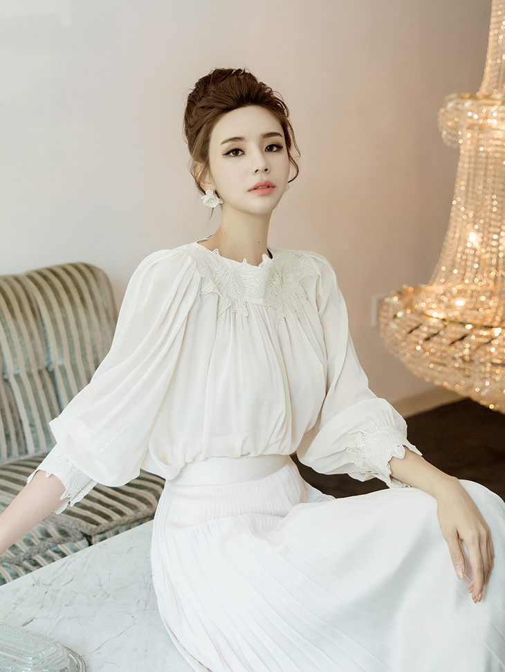 B2487 浪漫花纹雪纺纱