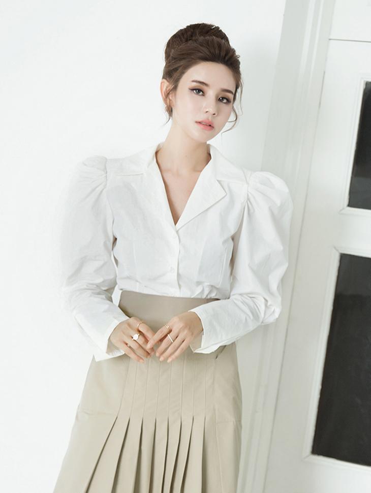 B2490 泡泡袖棉雪纺纱