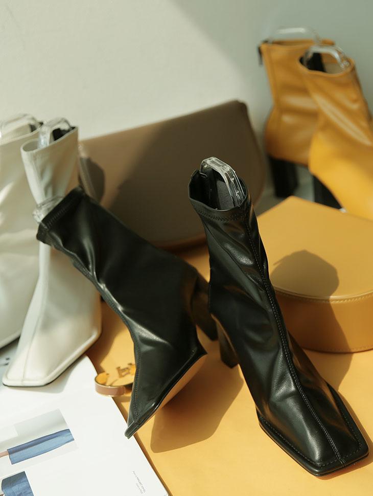 AR-2372 方形独特踝跟鞋