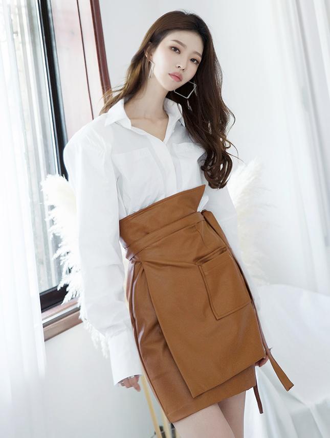 S334 口袋棉料宽衬衫