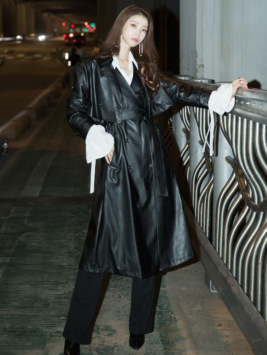 TP1012 皮革两件式套组 (连身裙&腰带组合)