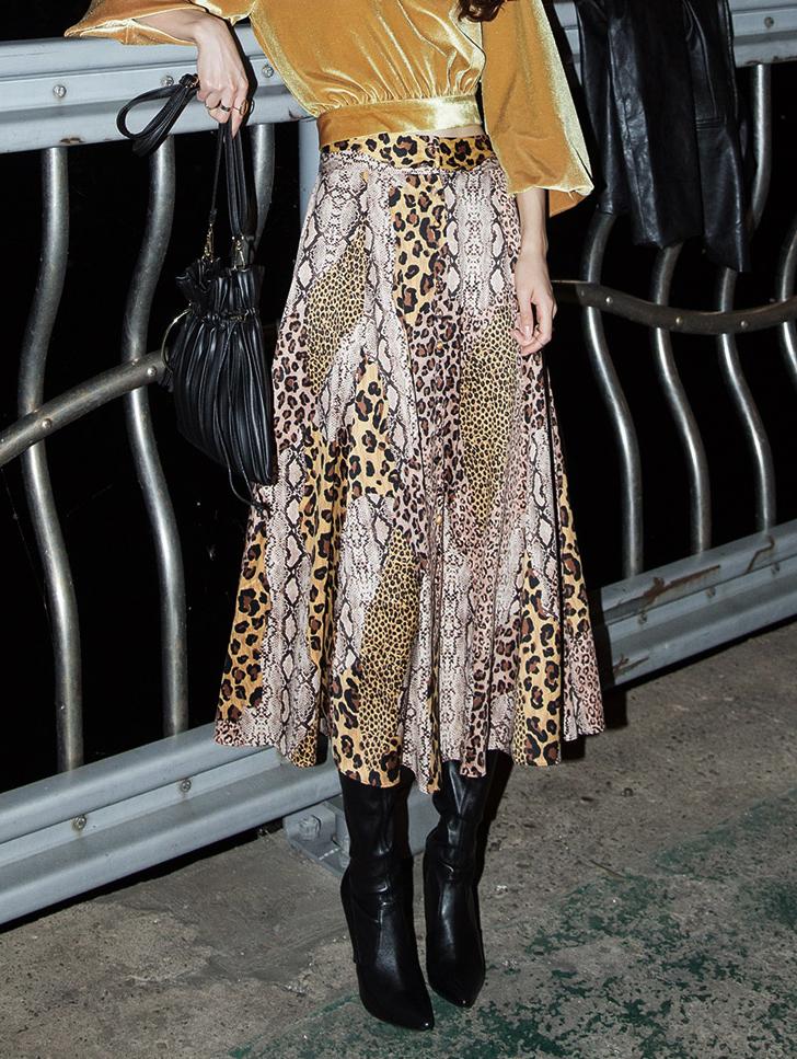 SK1960 豹纹半身裙