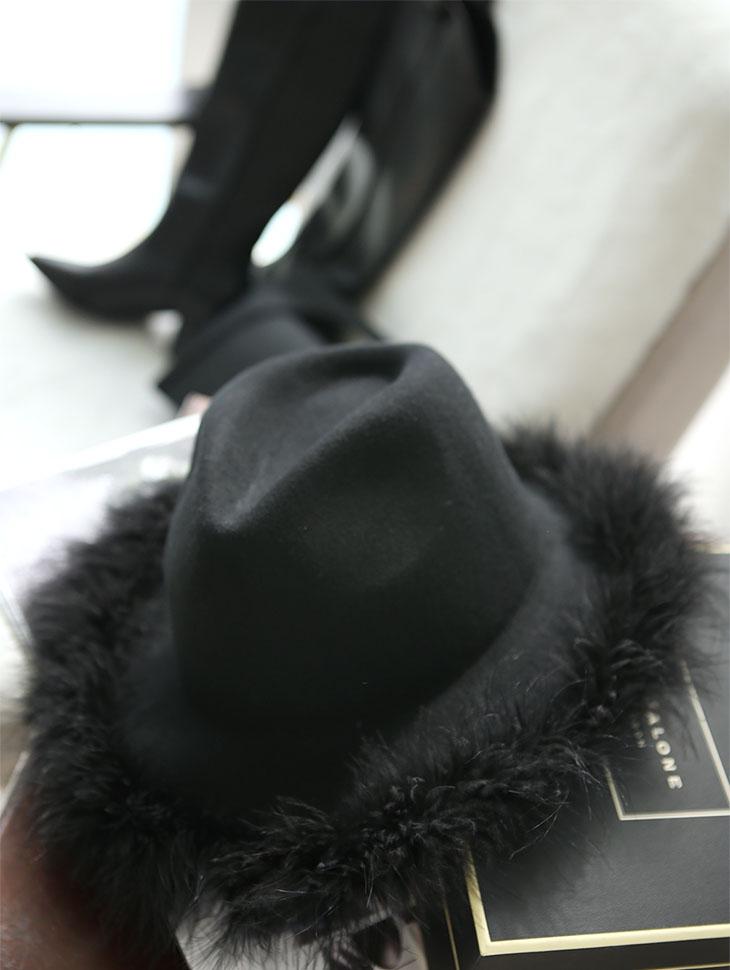 AC-575 宽羽绒软呢帽