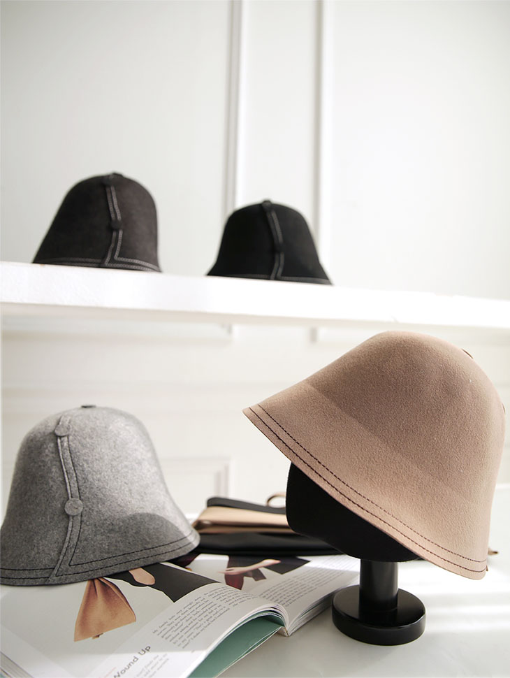 AC-572 刺绣线条羊毛帽