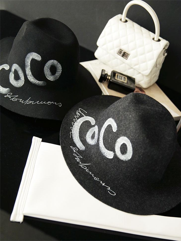 AC-574 手工图纹羊毛帽