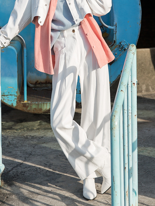 P2176 灯芯绒裤