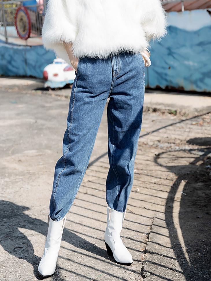 P2174 丹宁长版裤 *L尺码制作*