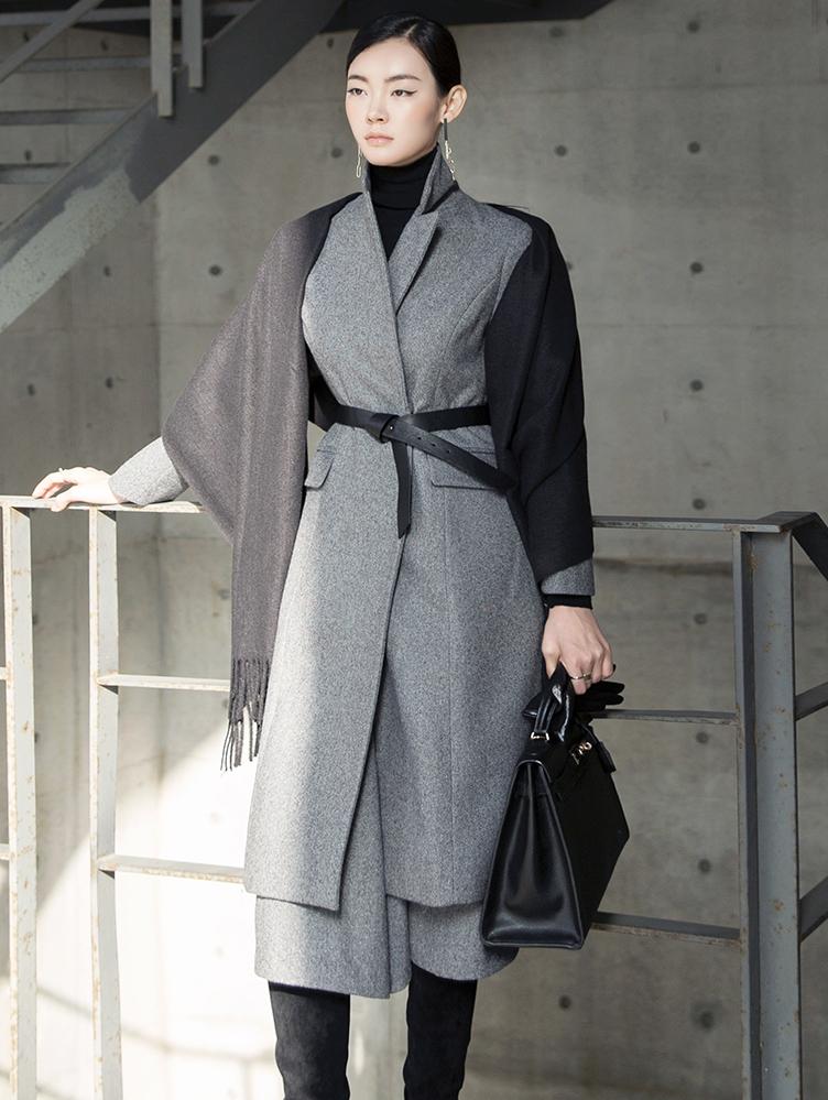 J838 羊毛正装大衣 (腰带组合)
