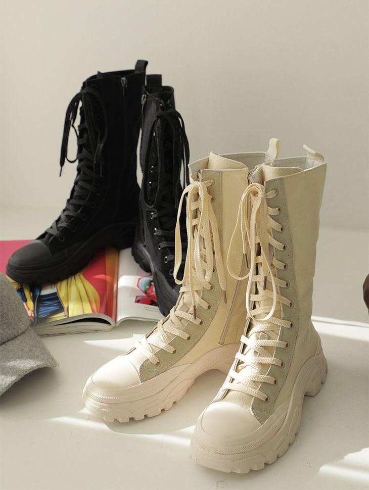 AR-2386 宽鞋底长筒马丁靴