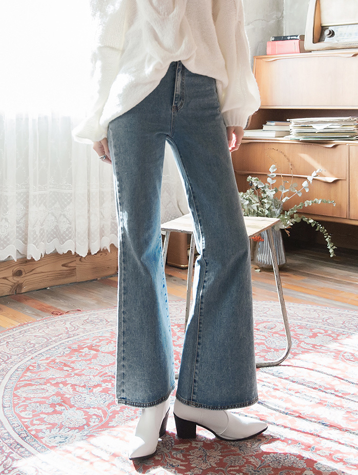 P2181 水洗感喇叭裤 *L尺码制作*