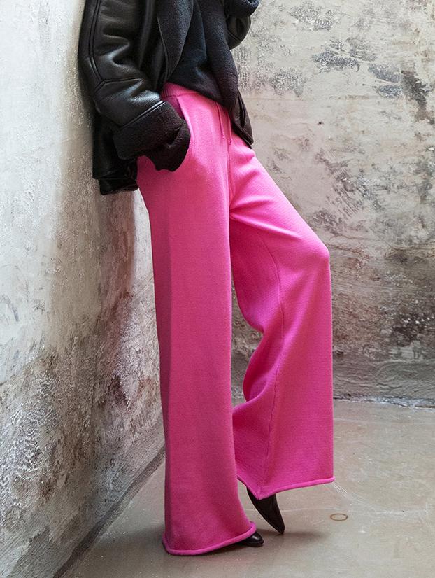 P2172 宽裕针织裤