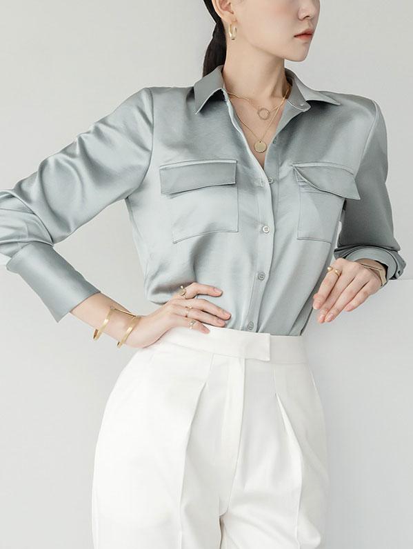 S350 丝滑口袋经典衬衫