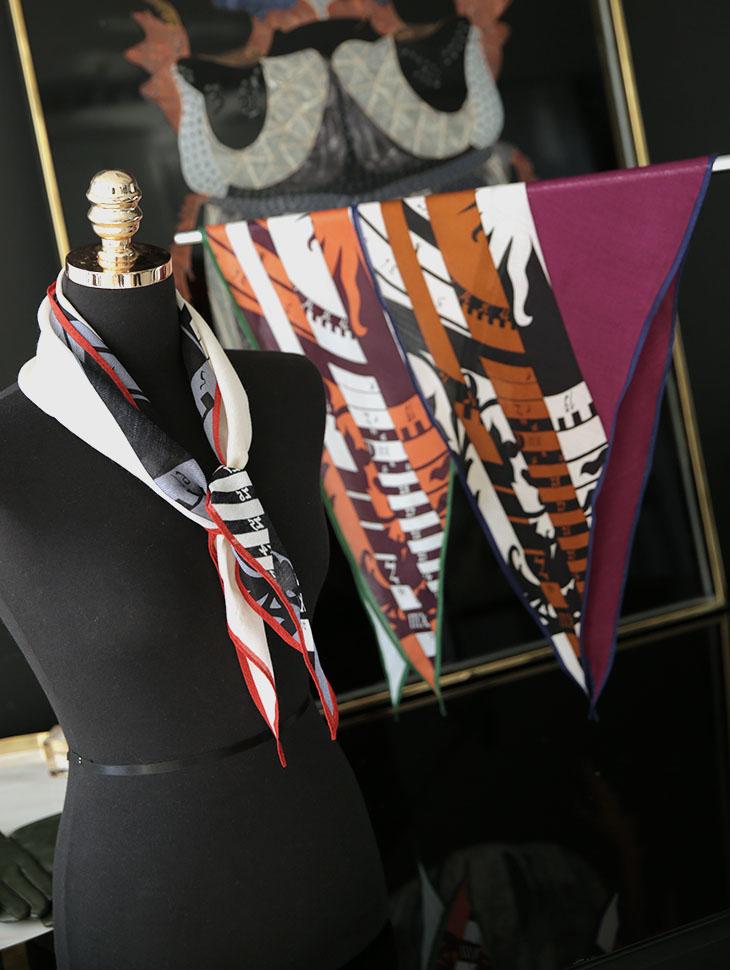 AS-1403 颜色线条羊毛领巾