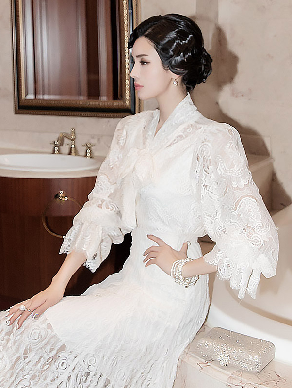 B2341 领巾蕾丝雪纺纱 (12th REORDER)