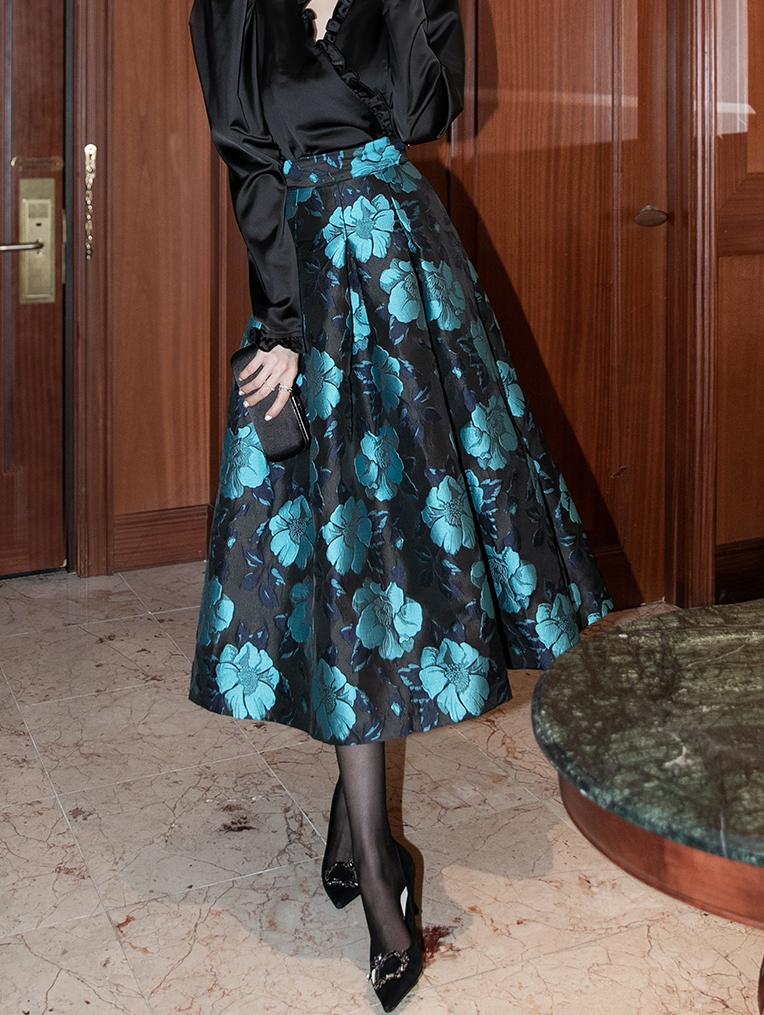 SK1992 花纹半身裙