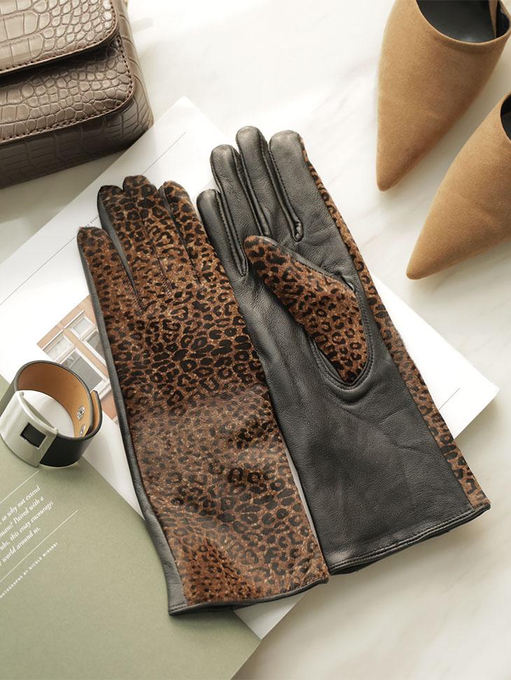 AH-144 豹纹皮革手套