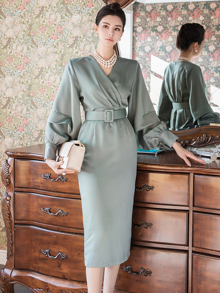 D3968 Corkin腰带连身裙(腰带SET)
