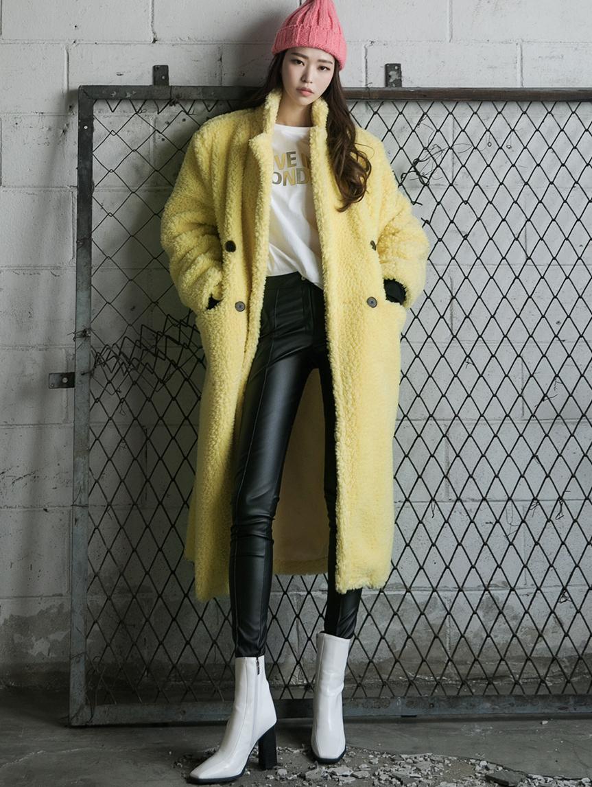 J900 圈圈纱长版大衣