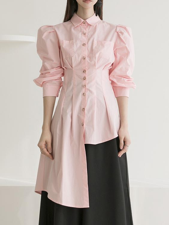 S364 不规则宽袖衬衫