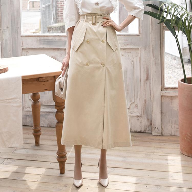 SK2036 风衣裙(腰带组合)