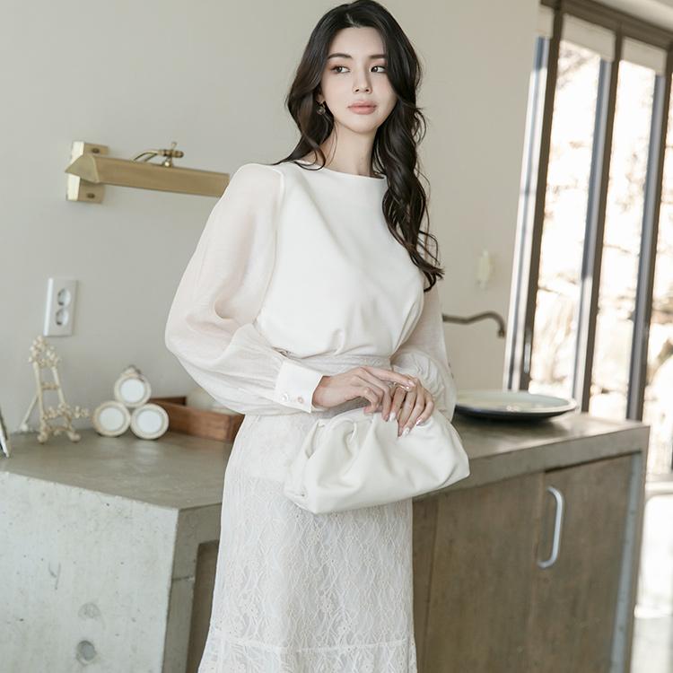 B2571 宽袖雪纺纱